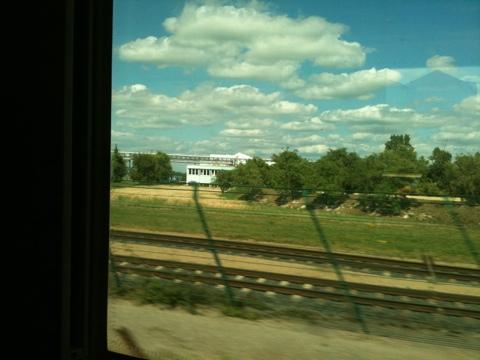 Blick aus dem Fenster im Zug